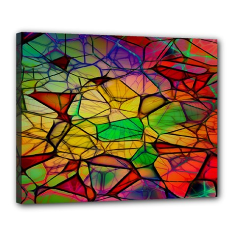 Abstract Squares Triangle Polygon Canvas 20  x 16