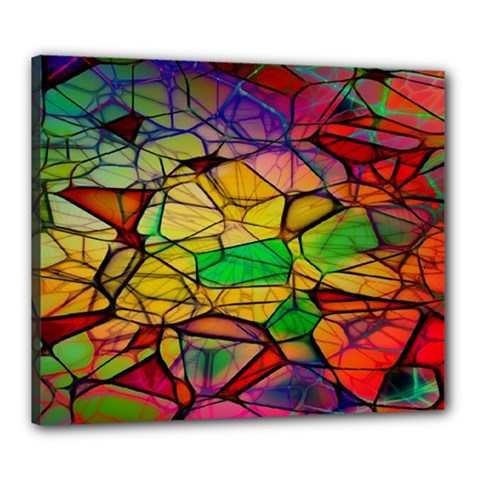 Abstract Squares Triangle Polygon Canvas 24  x 20