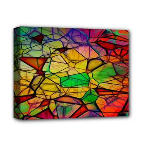 Abstract Squares Triangle Polygon Deluxe Canvas 14  x 11
