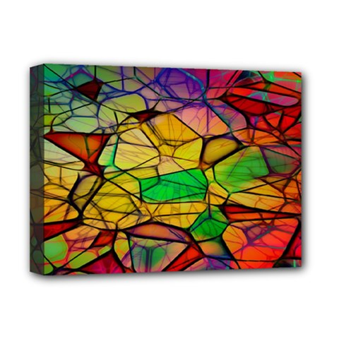 Abstract Squares Triangle Polygon Deluxe Canvas 16  x 12