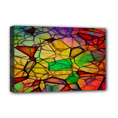 Abstract Squares Triangle Polygon Deluxe Canvas 18  X 12