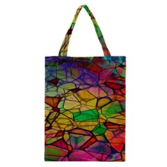 Abstract Squares Triangle Polygon Classic Tote Bag