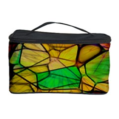 Abstract Squares Triangle Polygon Cosmetic Storage Case