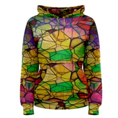 Abstract Squares Triangle Polygon Women s Pullover Hoodie