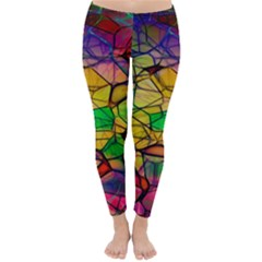 Abstract Squares Triangle Polygon Classic Winter Leggings