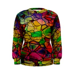 Abstract Squares Triangle Polygon Women s Sweatshirt