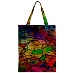 Abstract Squares Triangle Polygon Zipper Classic Tote Bag