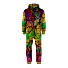 Abstract Squares Triangle Polygon Hooded Jumpsuit (Kids)