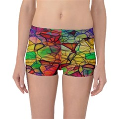 Abstract Squares Triangle Polygon Boyleg Bikini Bottoms