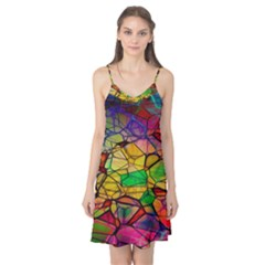 Abstract Squares Triangle Polygon Camis Nightgown