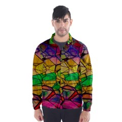 Abstract Squares Triangle Polygon Wind Breaker (men)