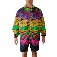 Abstract Squares Triangle Polygon Wind Breaker (Kids)