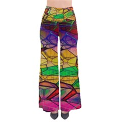 Abstract Squares Triangle Polygon Pants