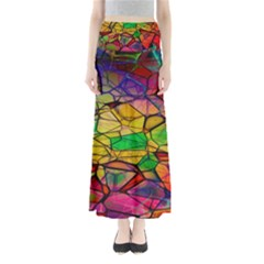 Abstract Squares Triangle Polygon Maxi Skirts