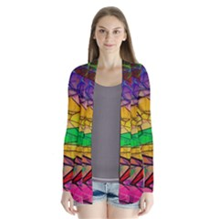 Abstract Squares Triangle Polygon Cardigans
