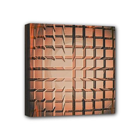 Abstract Texture Background Pattern Mini Canvas 4  x 4