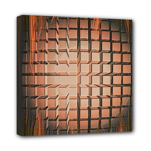 Abstract Texture Background Pattern Mini Canvas 8  X 8