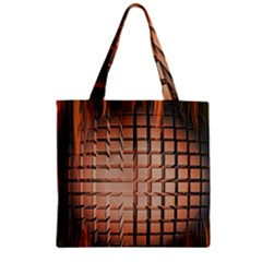 Abstract Texture Background Pattern Zipper Grocery Tote Bag