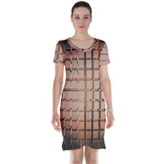 Abstract Texture Background Pattern Short Sleeve Nightdress
