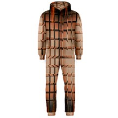 Abstract Texture Background Pattern Hooded Jumpsuit (Men)