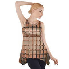 Abstract Texture Background Pattern Side Drop Tank Tunic