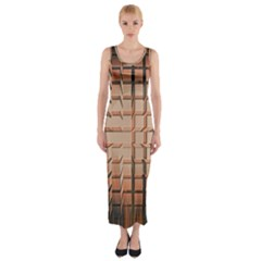 Abstract Texture Background Pattern Fitted Maxi Dress