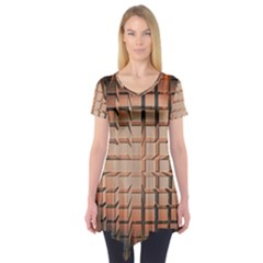 Abstract Texture Background Pattern Short Sleeve Tunic