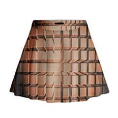 Abstract Texture Background Pattern Mini Flare Skirt