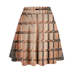 Abstract Texture Background Pattern High Waist Skirt