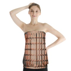 Abstract Texture Background Pattern Strapless Top