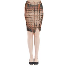 Abstract Texture Background Pattern Midi Wrap Pencil Skirt