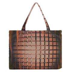 Abstract Texture Background Pattern Medium Zipper Tote Bag