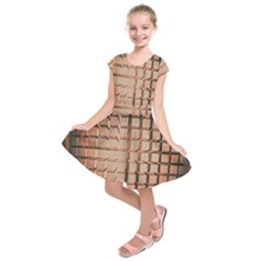 Abstract Texture Background Pattern Kids  Short Sleeve Dress