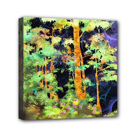 Abstract Trees Flowers Landscape Mini Canvas 6  x 6