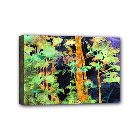 Abstract Trees Flowers Landscape Mini Canvas 6  x 4