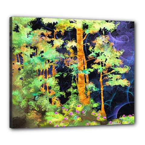 Abstract Trees Flowers Landscape Canvas 24  x 20