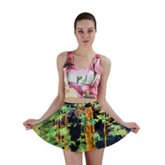 Abstract Trees Flowers Landscape Mini Skirt