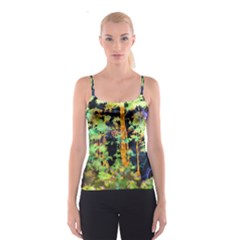 Abstract Trees Flowers Landscape Spaghetti Strap Top