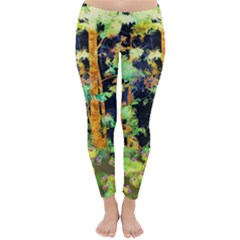 Abstract Trees Flowers Landscape Classic Winter Leggings