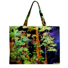 Abstract Trees Flowers Landscape Zipper Mini Tote Bag
