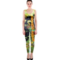 Abstract Trees Flowers Landscape OnePiece Catsuit