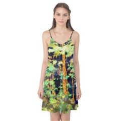 Abstract Trees Flowers Landscape Camis Nightgown