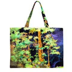 Abstract Trees Flowers Landscape Large Tote Bag