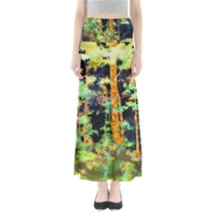 Abstract Trees Flowers Landscape Maxi Skirts