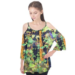 Abstract Trees Flowers Landscape Flutter Tees