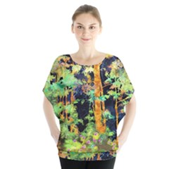 Abstract Trees Flowers Landscape Blouse