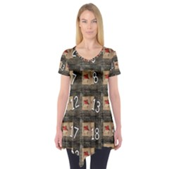 Advent Calendar Door Advent Pay Short Sleeve Tunic