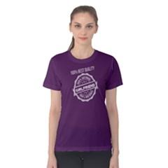 Purple 100% Natural Girlfriend Women s Cotton Tee