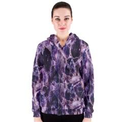 Agate Naturalpurple Stone Women s Zipper Hoodie