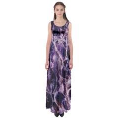 Agate Naturalpurple Stone Empire Waist Maxi Dress